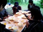 3日目 朝食�@食バン・コーンスープ・サラダ・ハムエッグca250049