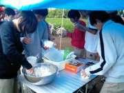 3日目 おにぎり作り(昼食用)�Aca250059